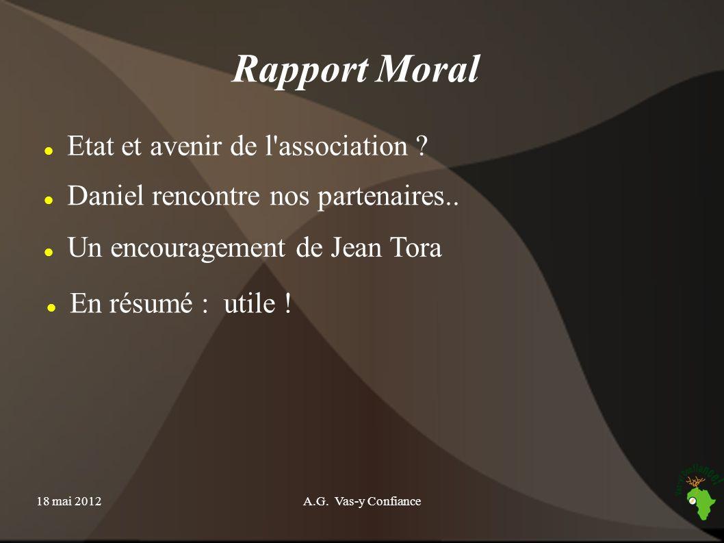 Rapport Moral Etat et avenir de l association