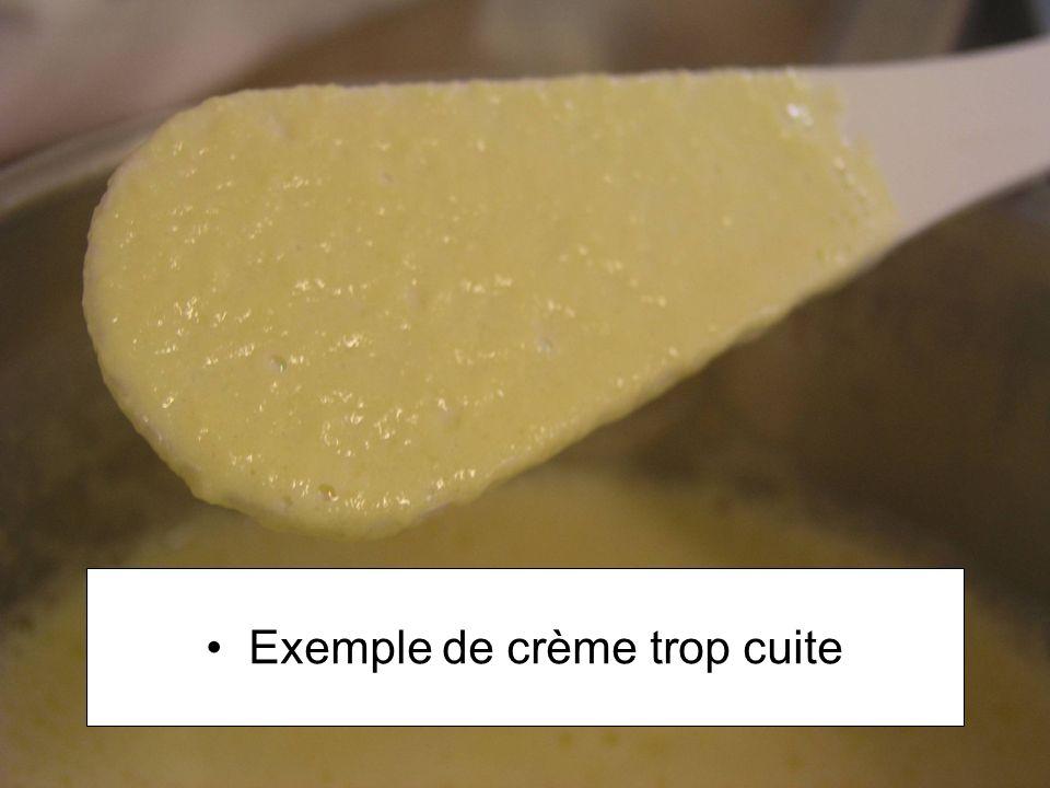 Exemple de crème trop cuite