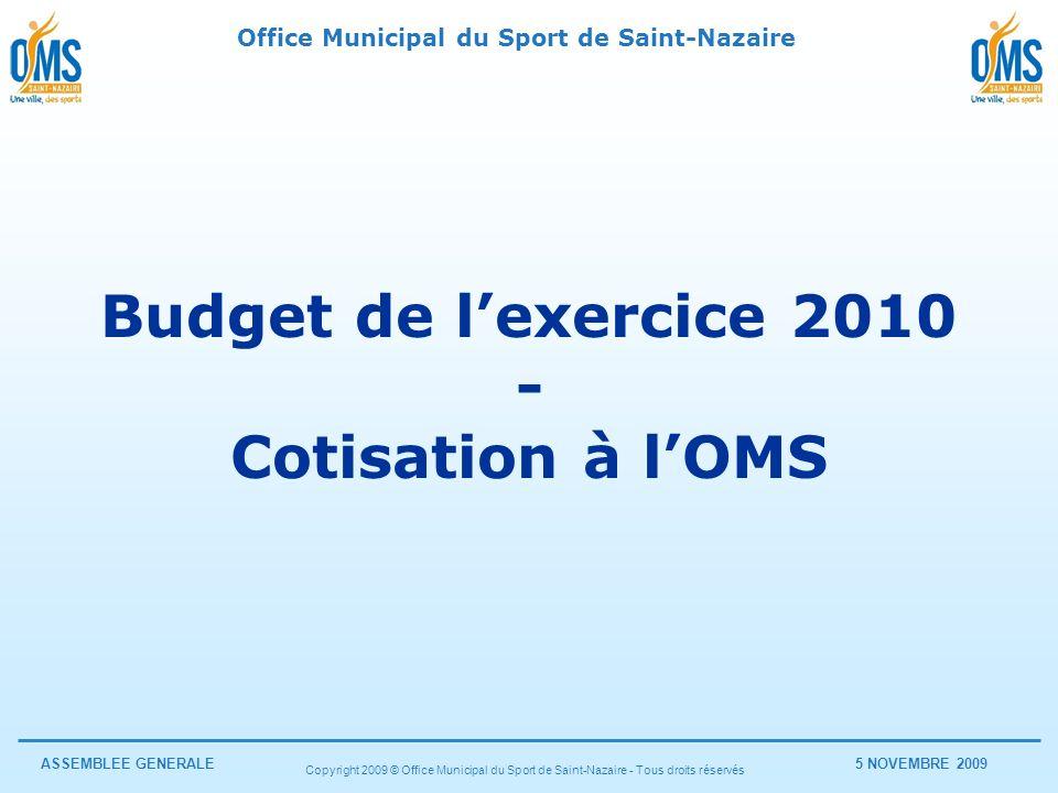 Budget de l'exercice 2010 - Cotisation à l'OMS