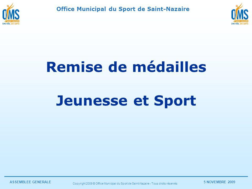 Remise de médailles Jeunesse et Sport