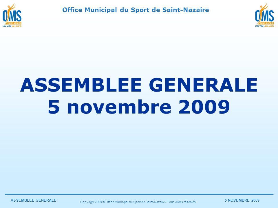 ASSEMBLEE GENERALE 5 novembre 2009