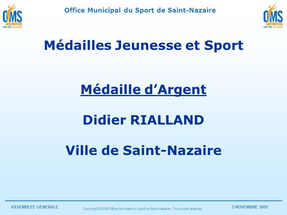 Médailles Jeunesse et Sport Ville de Saint-Nazaire