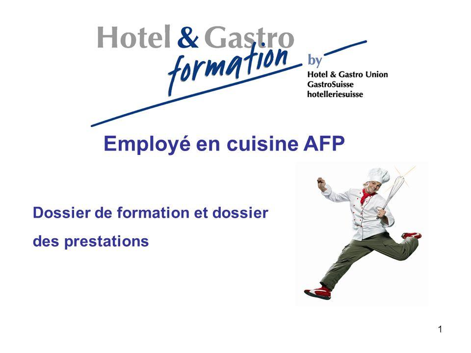 Employé en cuisine AFP Dossier de formation et dossier des prestations