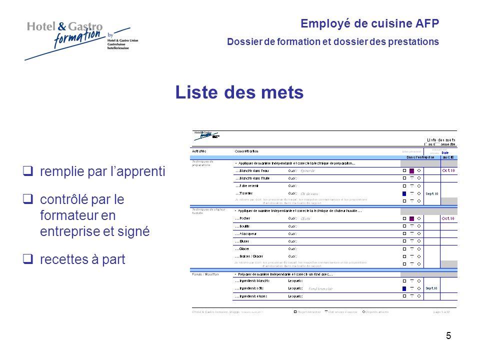 Employ en cuisine afp dossier de formation et dossier des for Formateur en cuisine