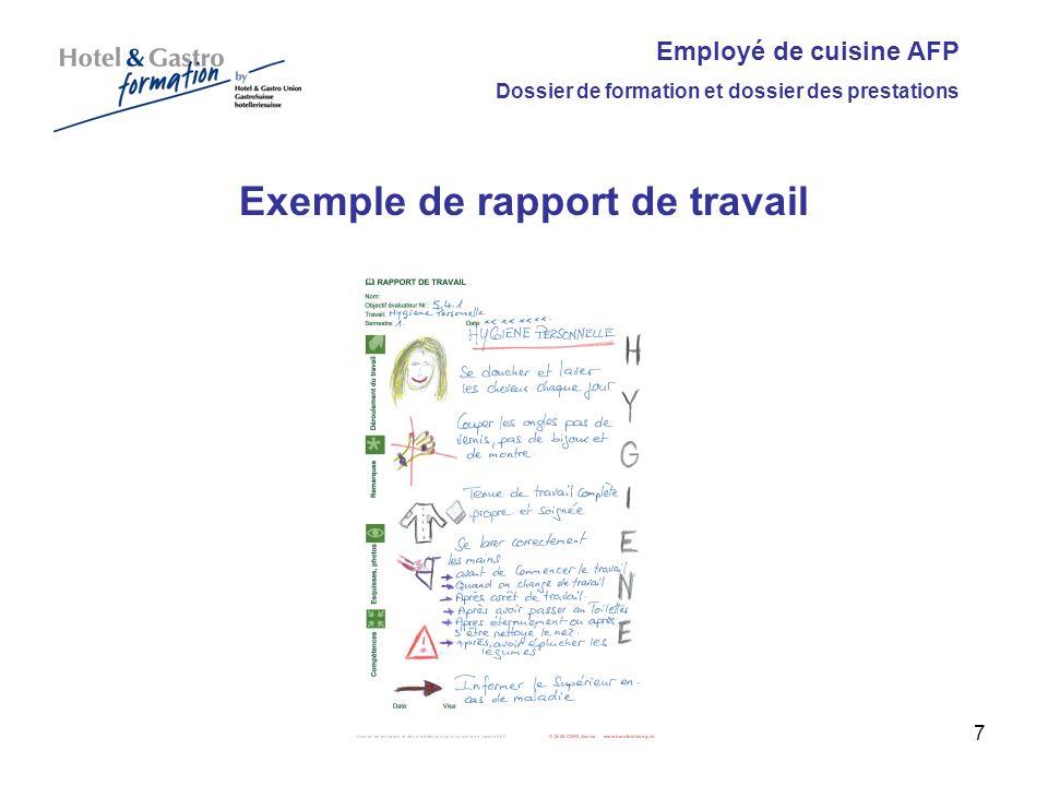 Exemple de rapport de travail