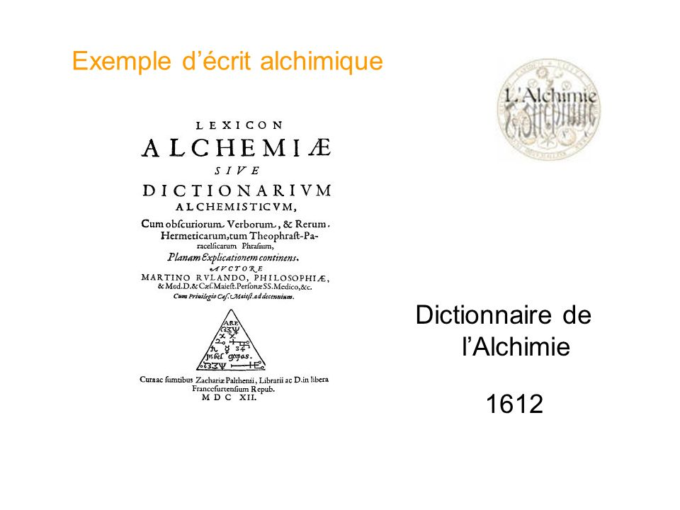 Exemple d'écrit alchimique