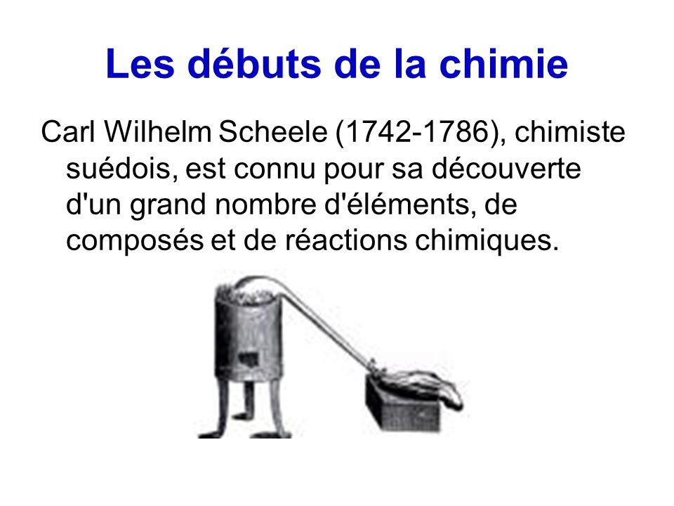 Les débuts de la chimie
