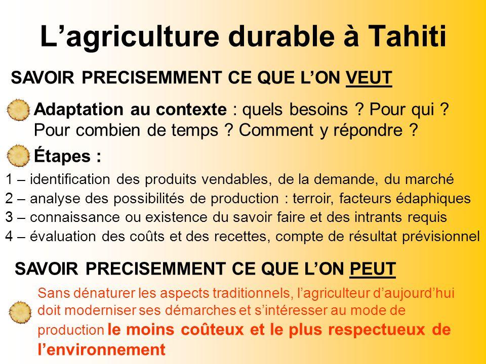 L'agriculture durable à Tahiti
