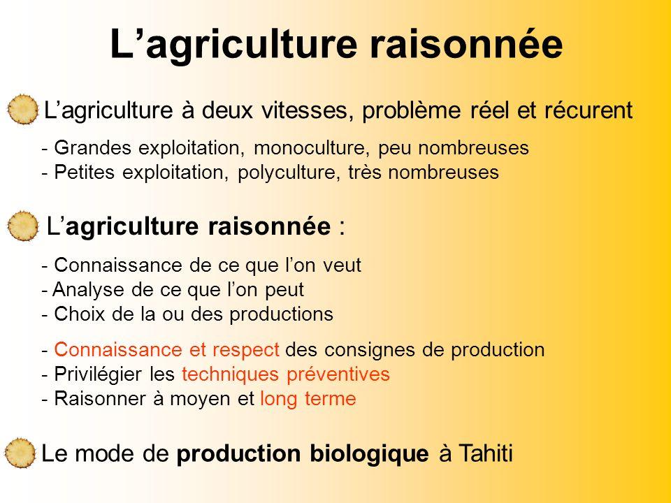 L'agriculture raisonnée
