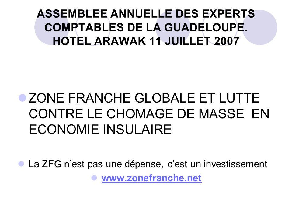 ASSEMBLEE ANNUELLE DES EXPERTS COMPTABLES DE LA GUADELOUPE