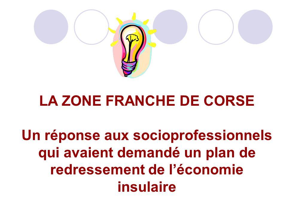LA ZONE FRANCHE DE CORSE