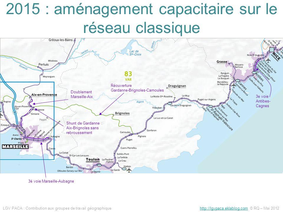 2015 : aménagement capacitaire sur le réseau classique
