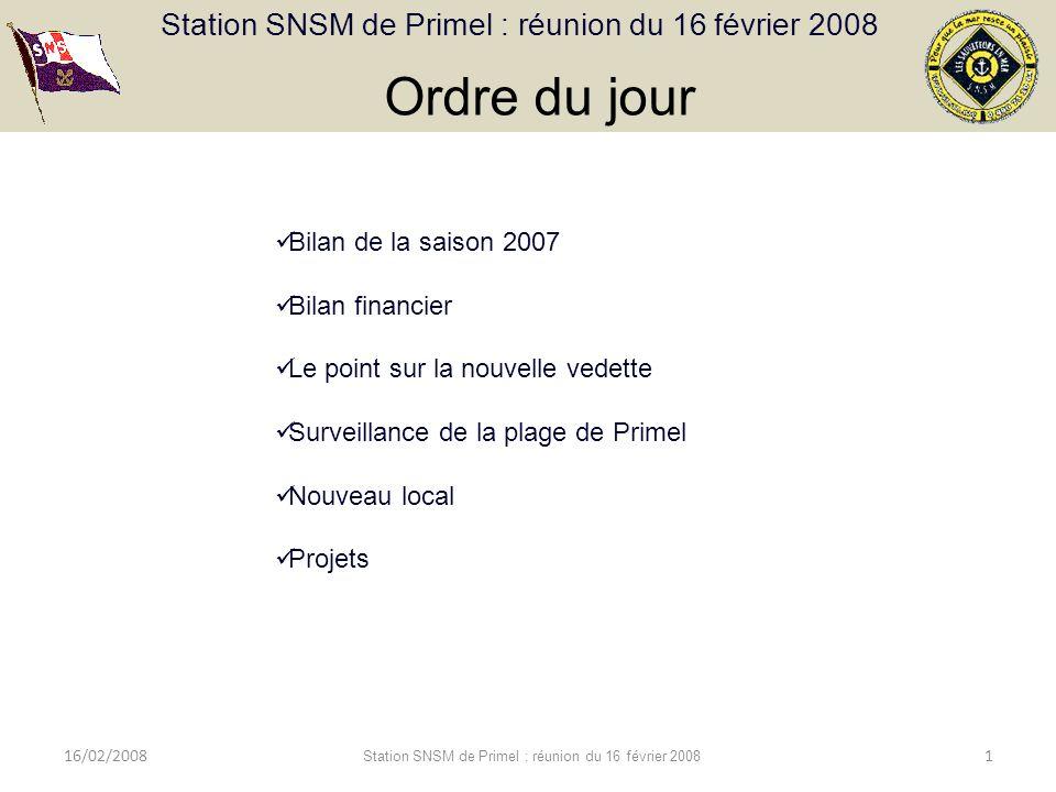 Station SNSM de Primel : réunion du 16 février 2008