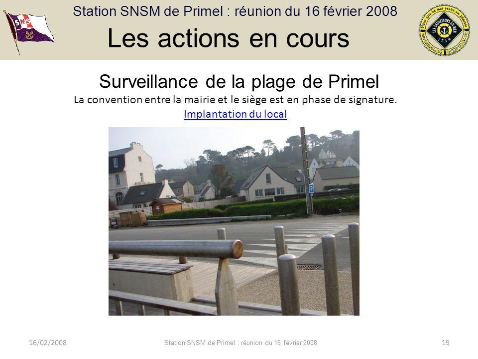 Les actions en cours Surveillance de la plage de Primel