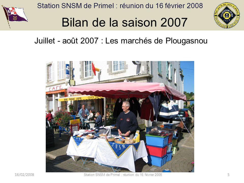 Bilan de la saison 2007 Juillet - août 2007 : Les marchés de Plougasnou.