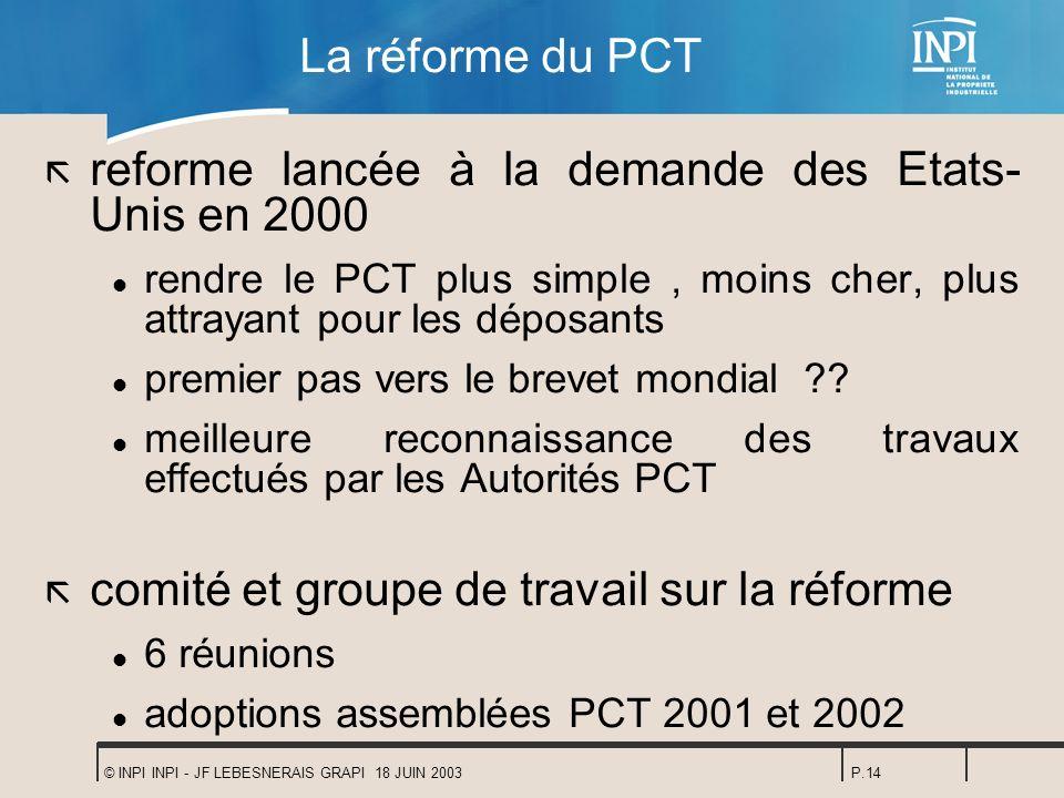 reforme lancée à la demande des Etats-Unis en 2000