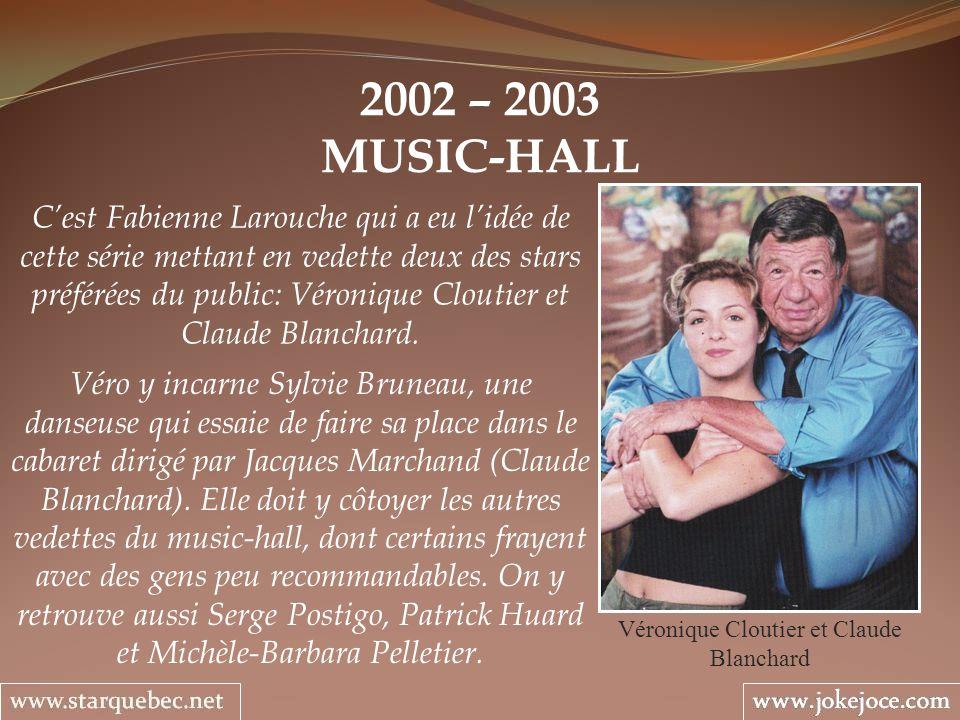 Véronique Cloutier et Claude Blanchard