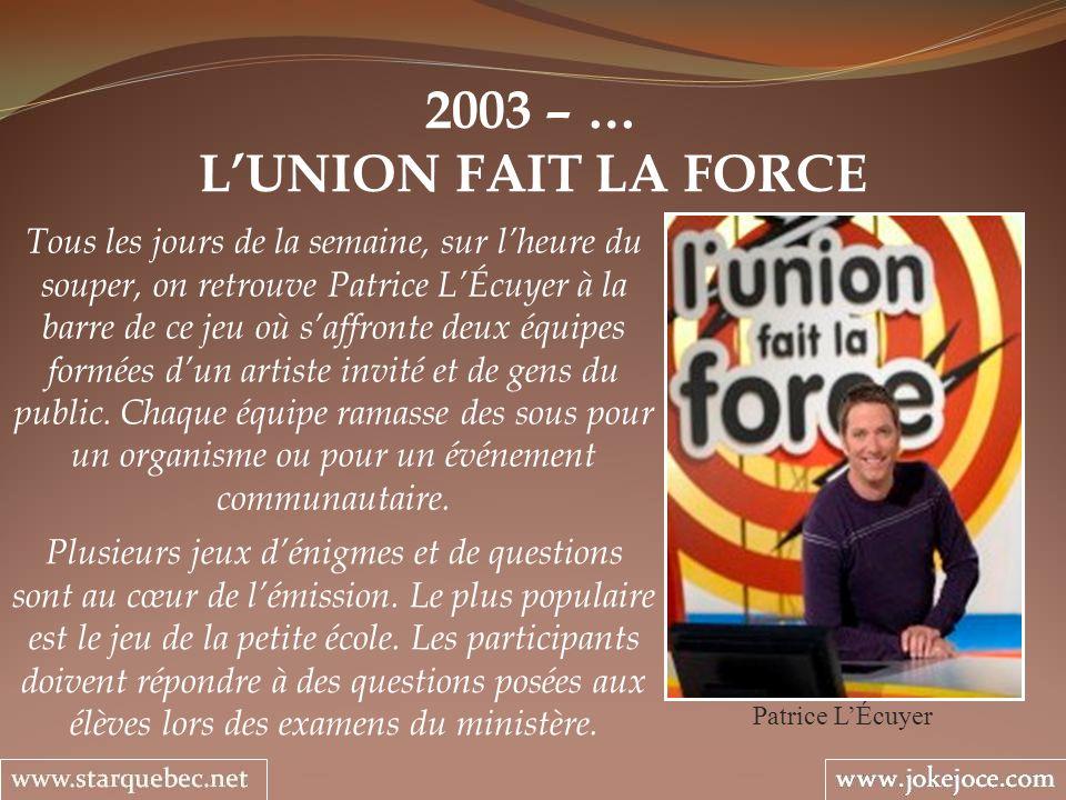 2003 – … L'UNION FAIT LA FORCE