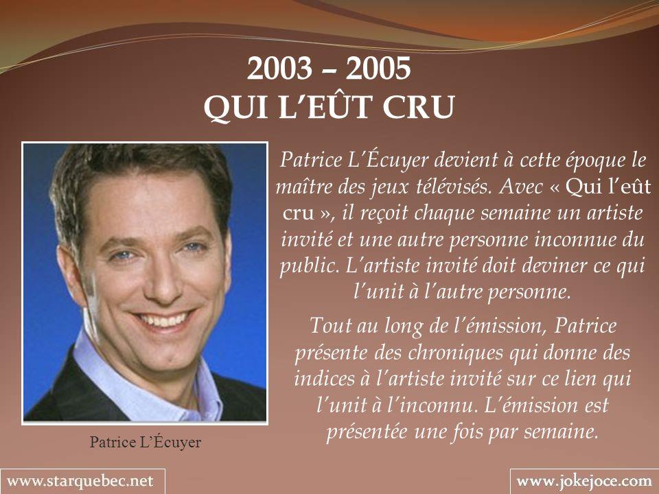 2003 – 2005 QUI L'EÛT CRU.