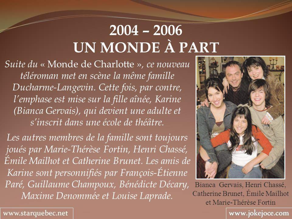 2004 – 2006 UN MONDE À PART.