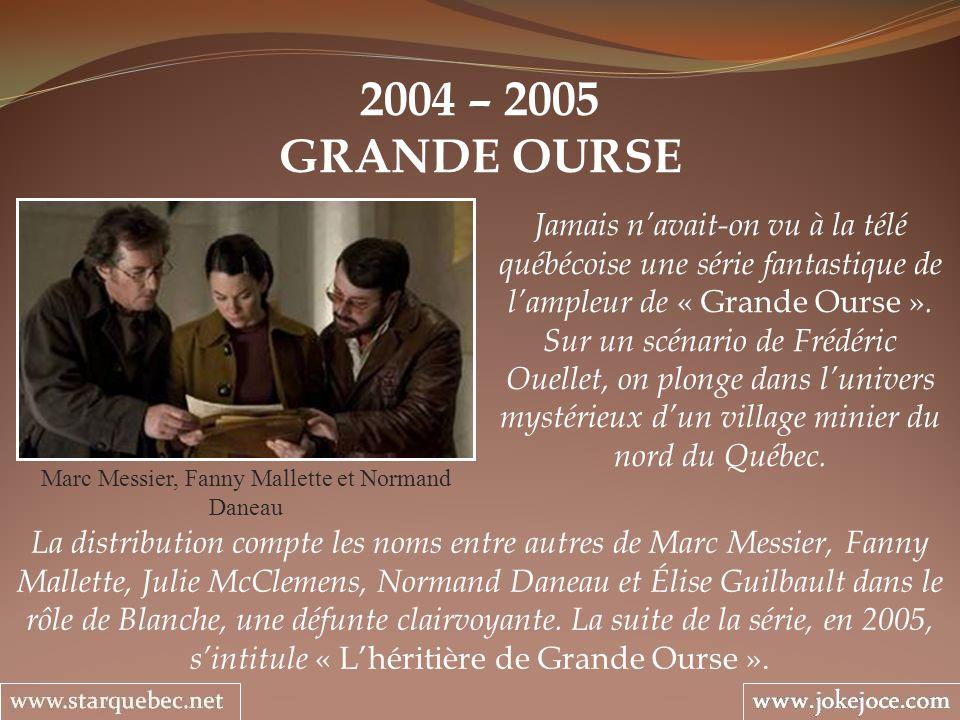 Marc Messier, Fanny Mallette et Normand Daneau