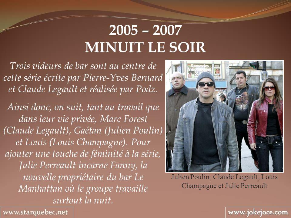 Julien Poulin, Claude Legault, Louis Champagne et Julie Perreault