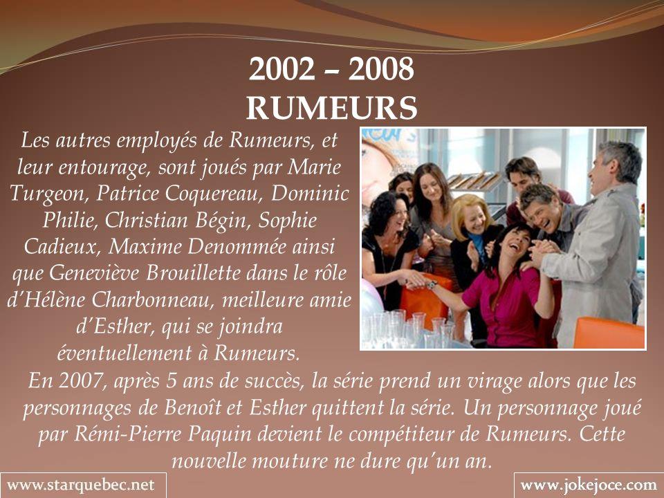 2002 – 2008 RUMEURS.