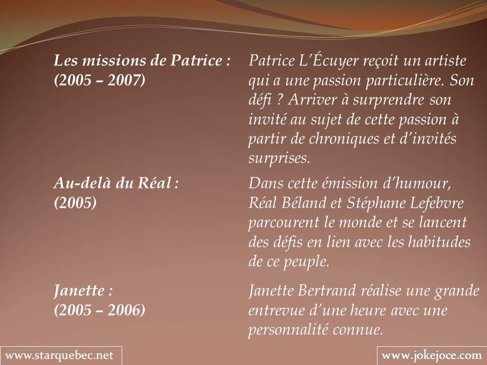 Les missions de Patrice : Patrice L'Écuyer reçoit un artiste