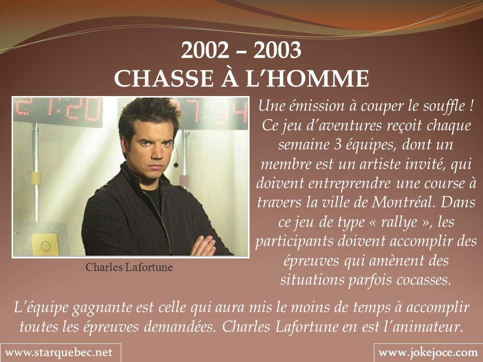 2002 – 2003 CHASSE À L'HOMME.