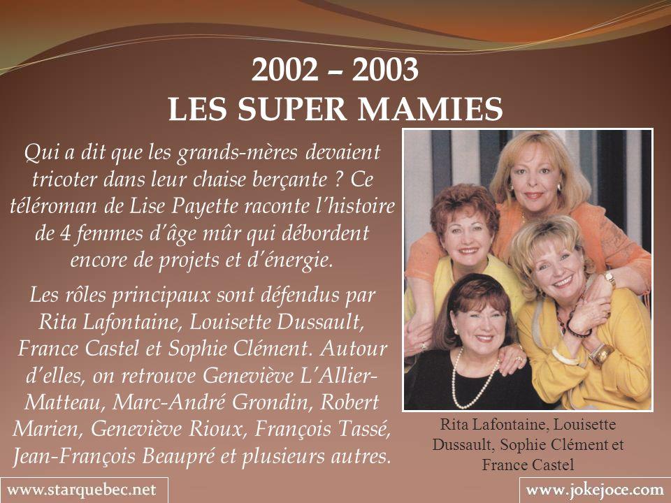 Rita Lafontaine, Louisette Dussault, Sophie Clément et France Castel