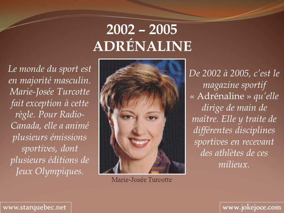 2002 – 2005 ADRÉNALINE.