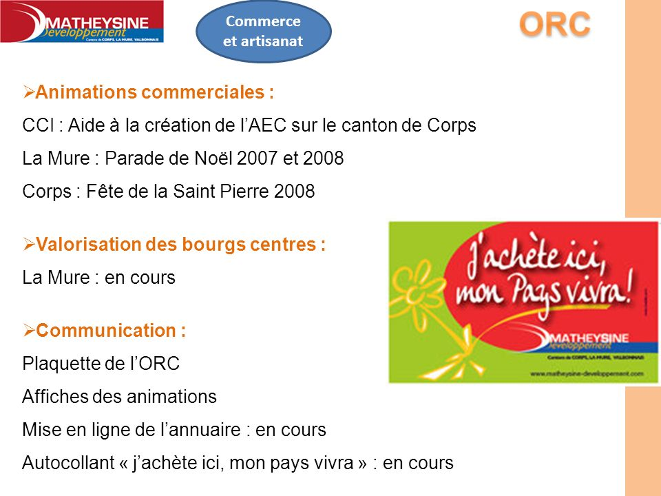 Animations commerciales :
