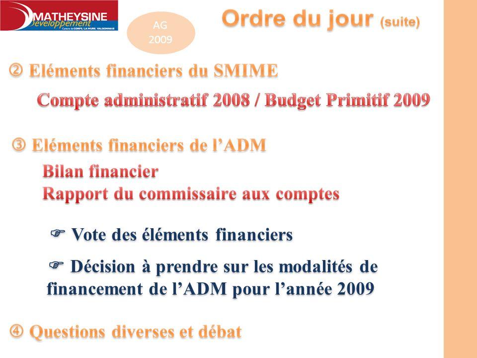  Vote des éléments financiers