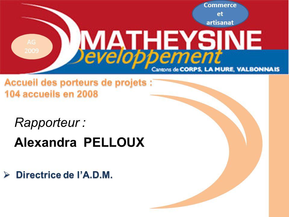 Rapporteur : Alexandra PELLOUX  Directrice de l'A.D.M. Commerce