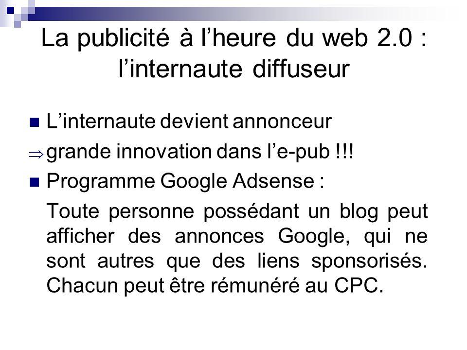 La publicité à l'heure du web 2.0 : l'internaute diffuseur