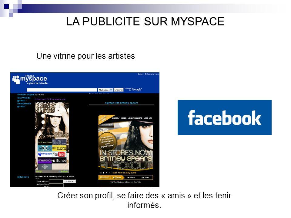 LA PUBLICITE SUR MYSPACE