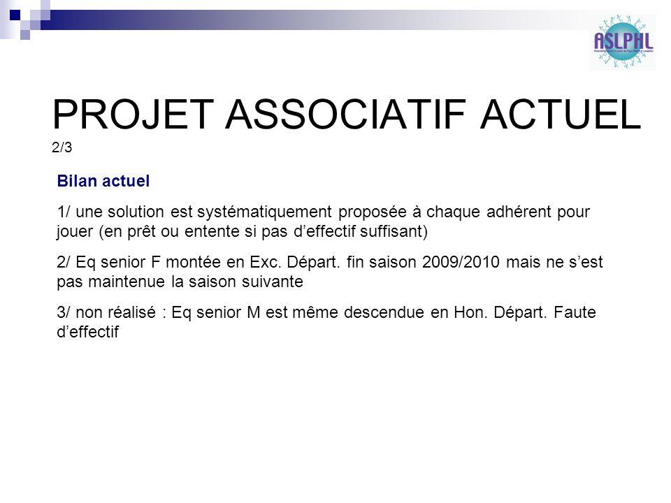 PROJET ASSOCIATIF ACTUEL 2/3