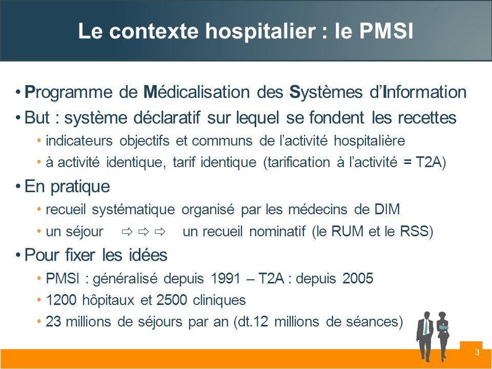 Le contexte hospitalier : le PMSI