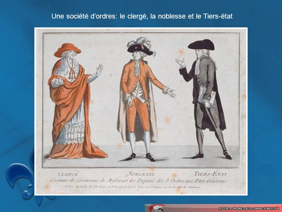 Une société d'ordres: le clergé, la noblesse et le Tiers-état