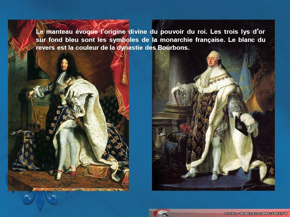 Le manteau évoque l'origine divine du pouvoir du roi