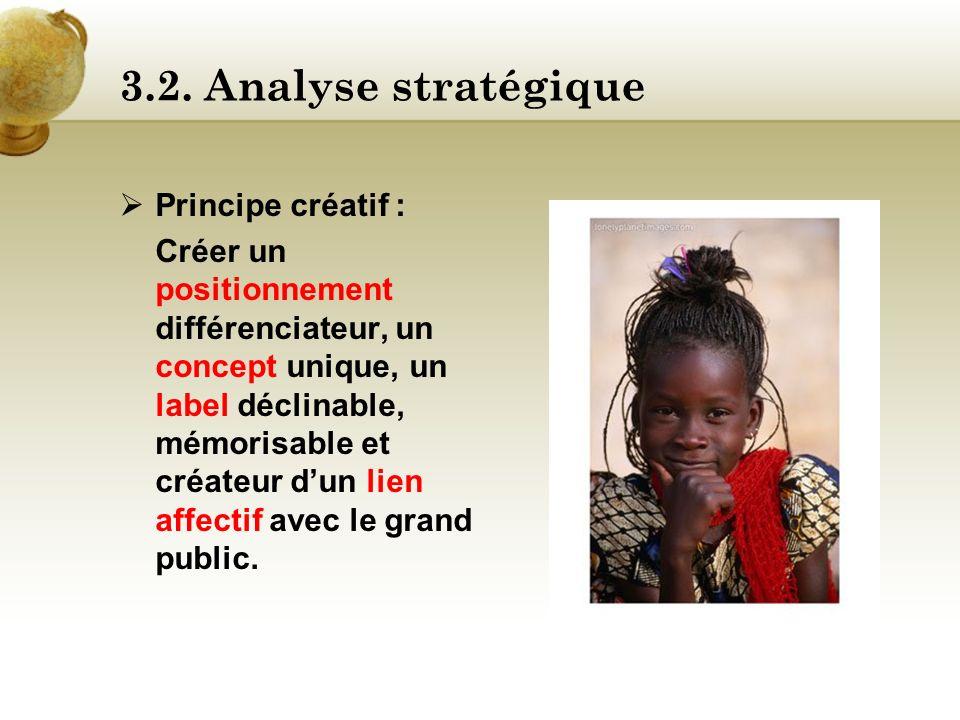 3.2. Analyse stratégique Principe créatif :