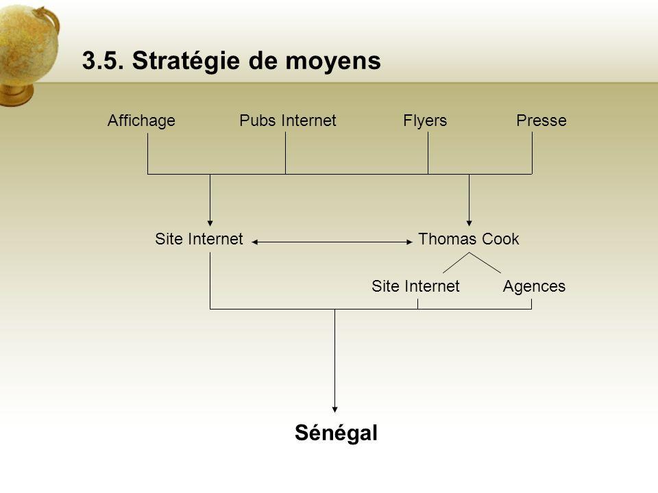 3.5. Stratégie de moyens Sénégal Affichage Pubs Internet Flyers Presse
