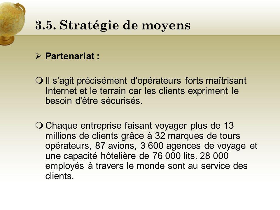 3.5. Stratégie de moyens Partenariat :
