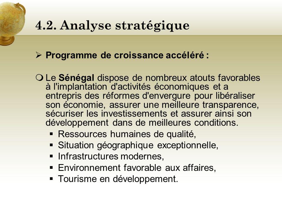 4.2. Analyse stratégique Programme de croissance accéléré :