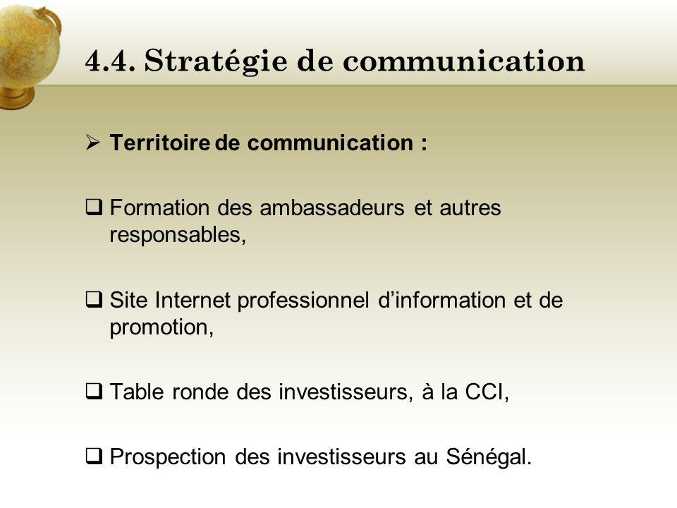 4.4. Stratégie de communication