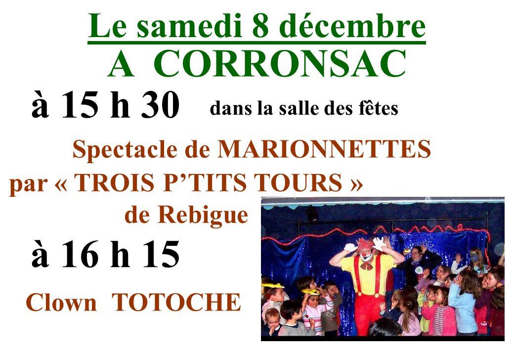 Spectacle de MARIONNETTES par « TROIS P'TITS TOURS » de Rebigue
