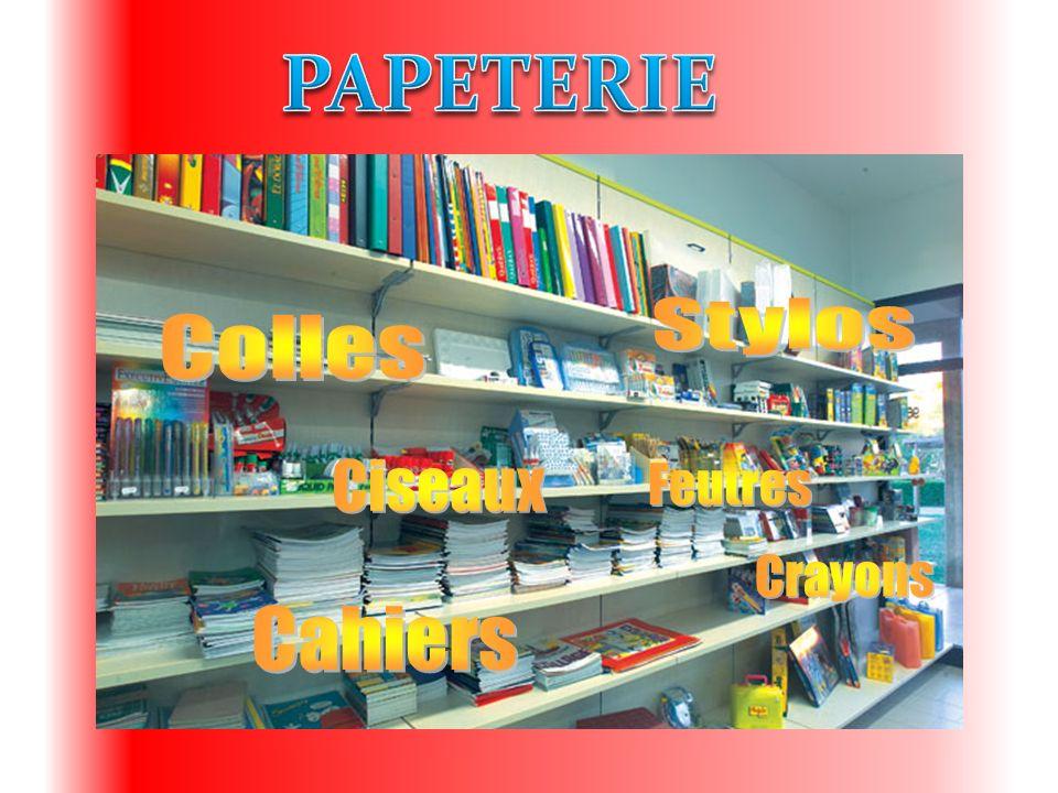 PAPETERIE Stylos Colles Ciseaux Feutres Crayons Cahiers