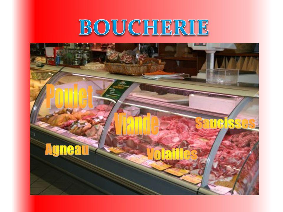 BOUCHERIE Poulet Viande Saucisses Agneau Volailles