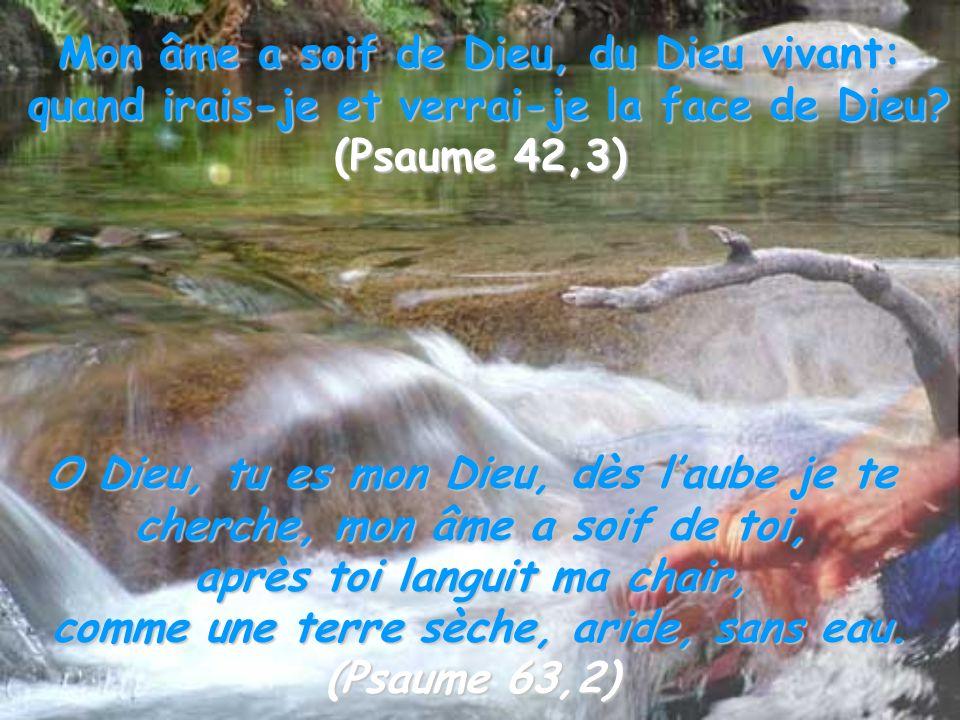 Mon âme a soif de Dieu, du Dieu vivant: