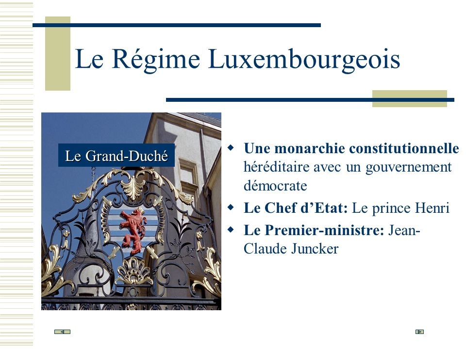 Le Régime Luxembourgeois